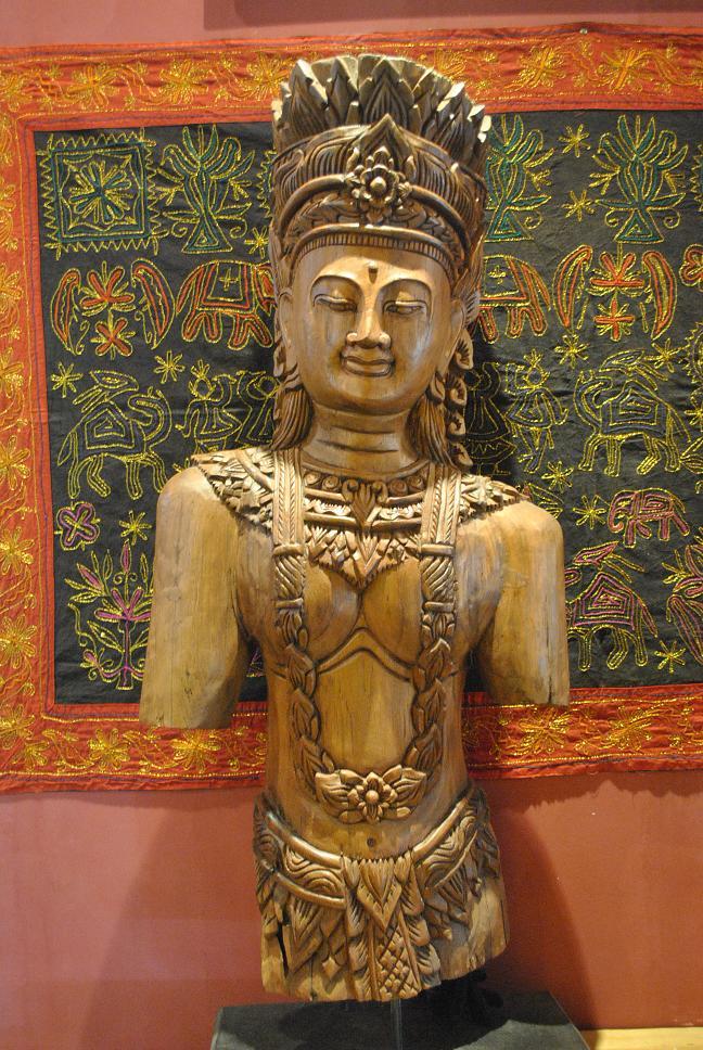 木雕菩萨 班丹拉姆 泰国饰品佛珠,佛像 开光吉祥物
