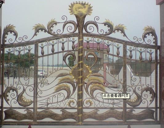 商品名牌: 北京鼎泓達鐵藝裝飾公司  商品型號: 鐵藝大門效果圖6