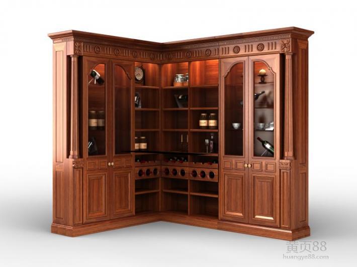 护墙,衣柜,酒柜,书柜,橱柜等全屋实木定制系列.