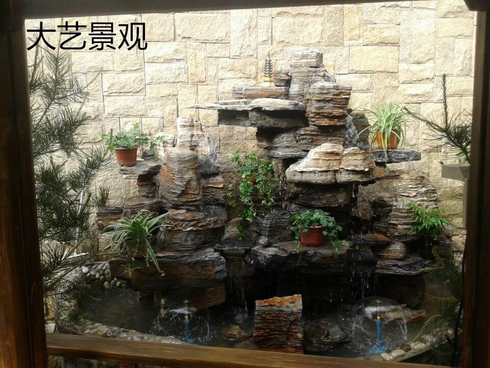 阳台景观设计    特色水景制作
