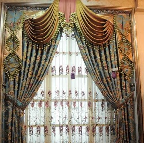 欧,美式窗帘图片