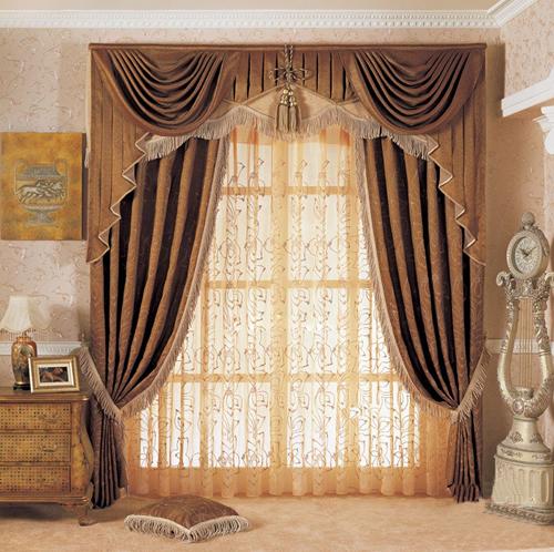 窗帘侧面手绘画法