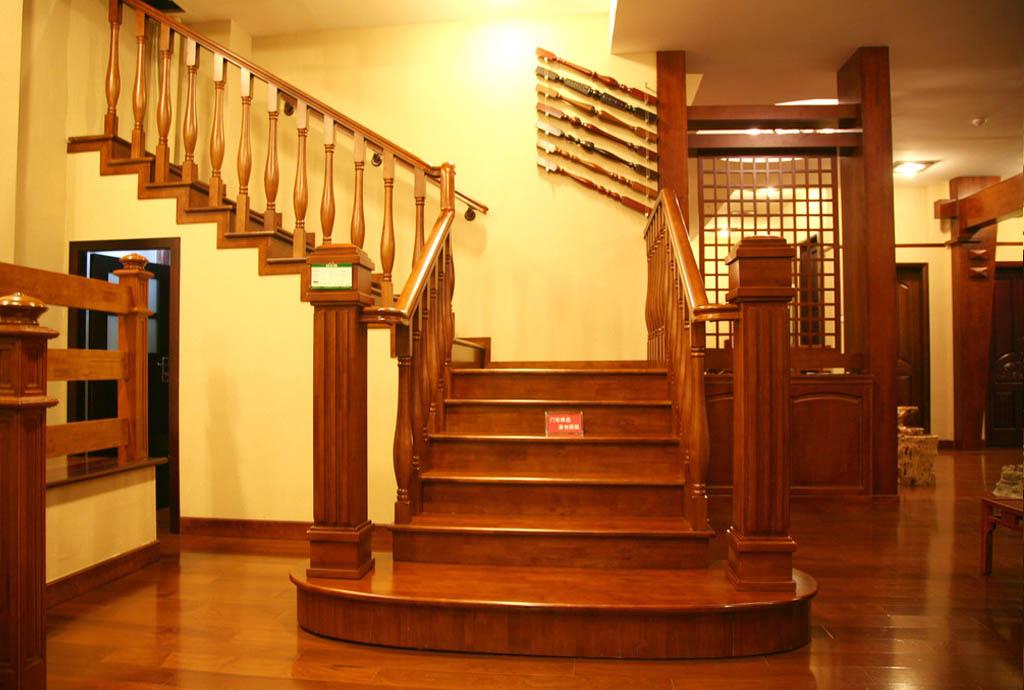 实木楼梯35-实木楼梯-哈尔滨朝品榻榻米