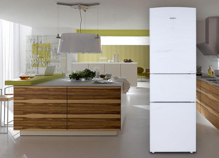 双门冰箱放厨房效果图