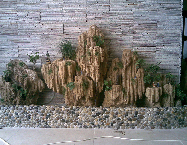 庭院景观-产品展厅-宏业假山喷泉制作中心—山西假山