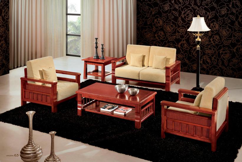 实木沙发009-河南鸿之泰装饰设计工程有限公司