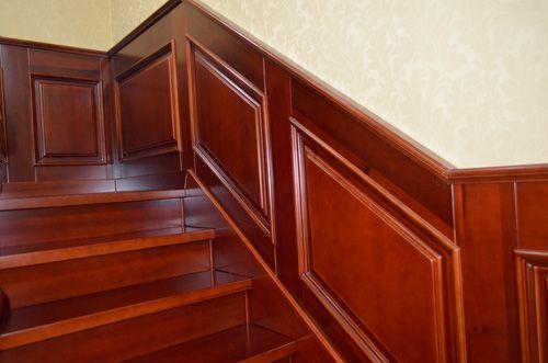 新中式楼梯护墙板效果图