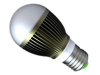 球泡灯使用的是led作为光源,配以专业的散热结构,工作时温度很低(40