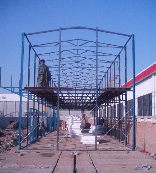 钢架结构2 西安阳光房,无框阳台,钢架结构,彩钢瓦系列