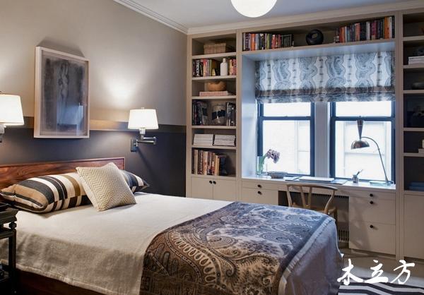 手绘卧室带书桌