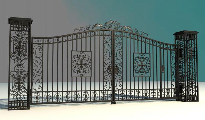 现代型铁艺大门就较为简单,采用的材料也会选择比较些小的方管,主要