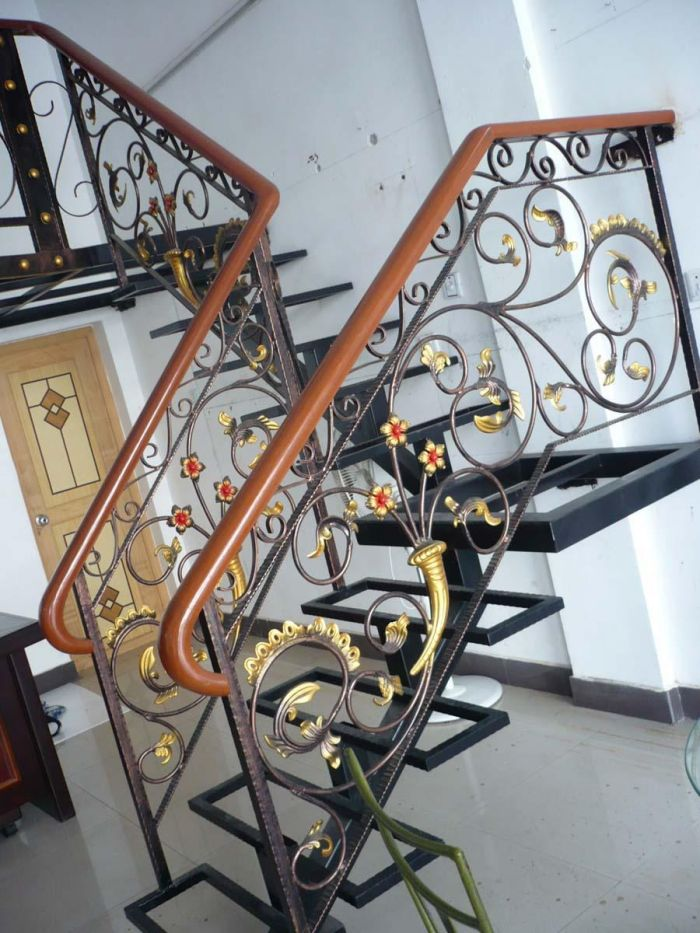 布织布手装饰幼儿园楼梯