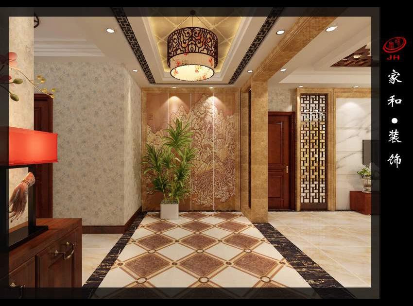 中式门厅 山西家和装饰|太原哪家装饰公司好|山西图片
