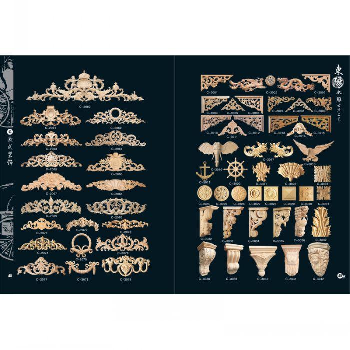 各类中欧式木雕贴花