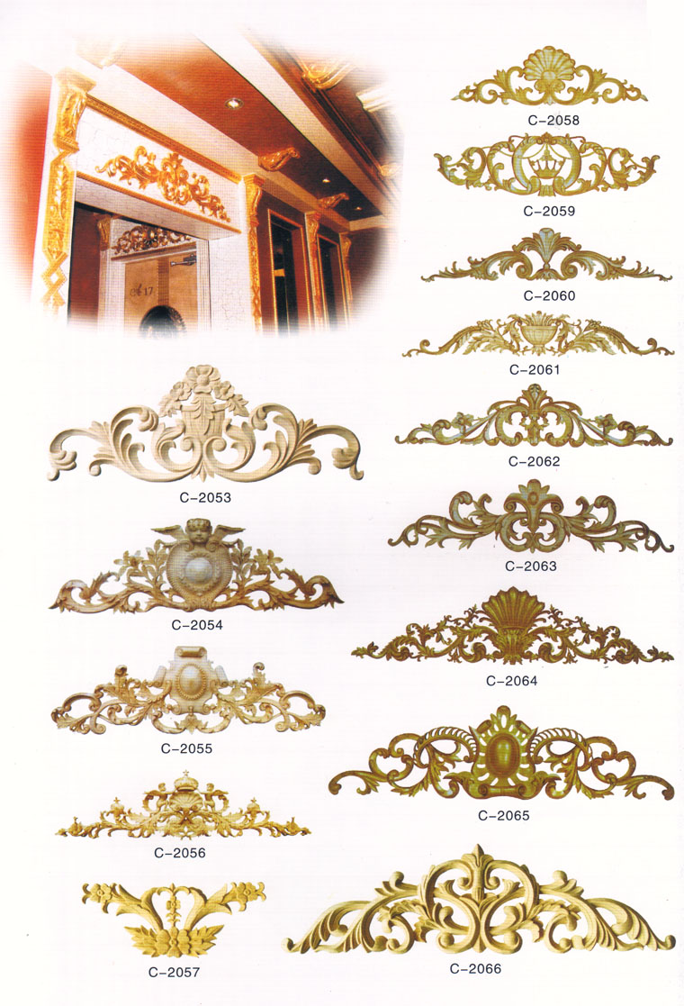 欧式金色木雕贴图