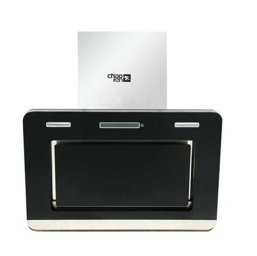 产品特点: 时尚简约造型,全黑面板打造,庄重高雅; 双滚珠全封闭铜芯片电机; 超大进风口,吸净率更高; 四维立体进风,吸净率更高。 产品参数: 功率:180W 风压320帕 排风量:14m³/min 噪音:55dB 产品尺寸:850x400x800mm