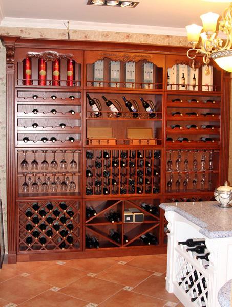 欧式酒柜 (6) 壁炉系列|橱柜系列|护墙板系列|沈阳