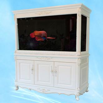 白色欧式实木高档鱼缸