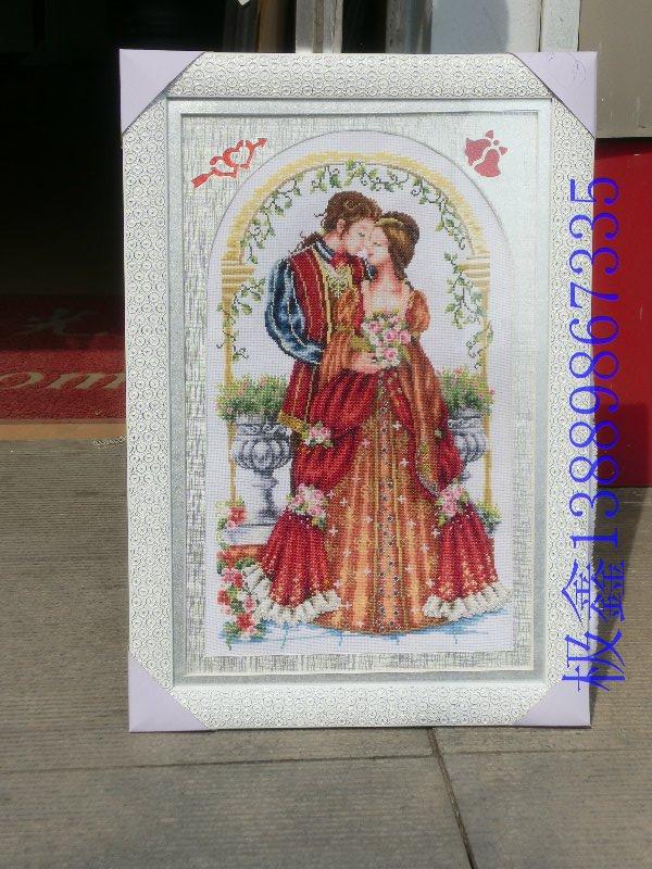 欧式婚礼 沈阳人物画框 沈阳十字绣画框 沈阳装裱画框