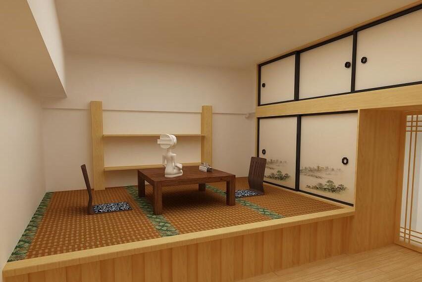 板式榻榻米带衣柜设计图展示