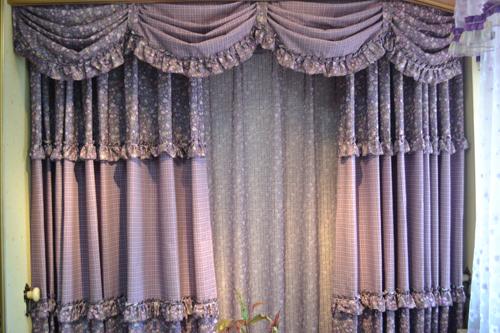 布艺006 简约风格窗帘 欧式风格窗帘 田园风格窗帘