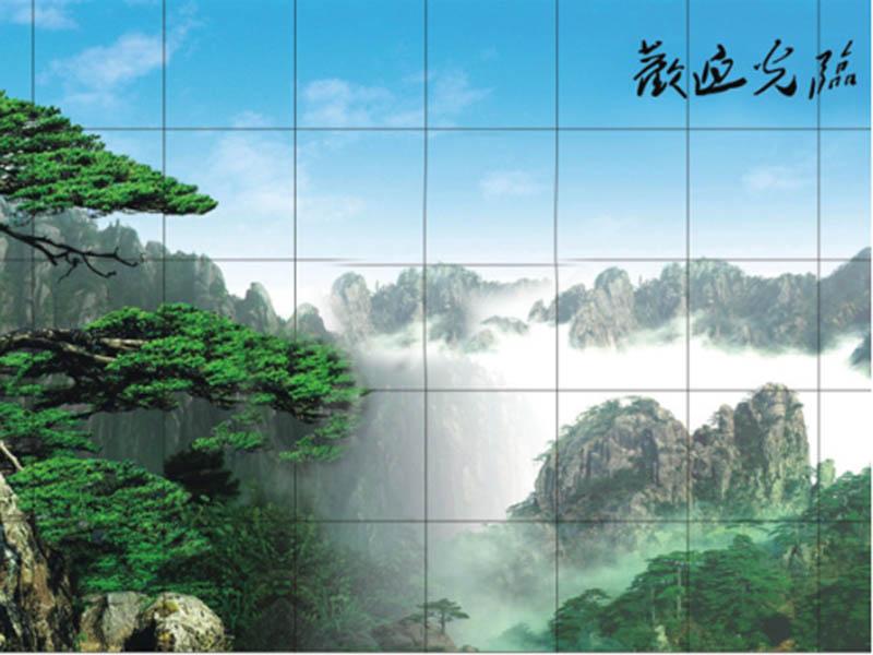 迎客松10x7-沙发背景-重庆东鹏硅藻泥