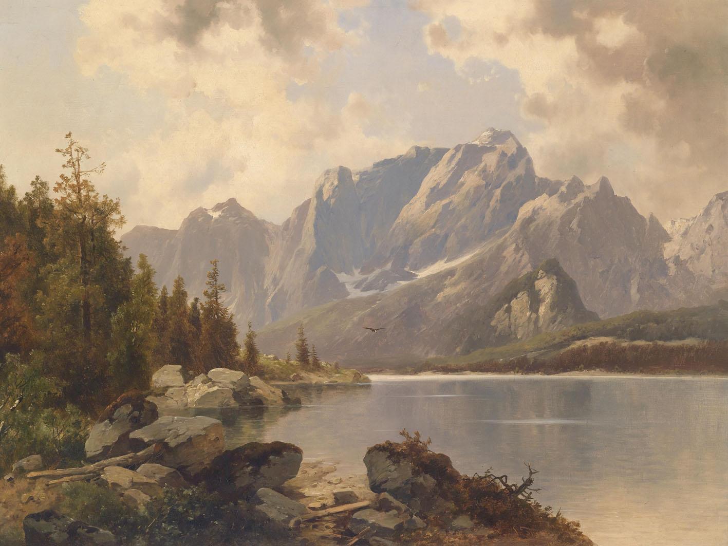 19世纪绘画 古典风景 精品 ◆; 山水油画; h1-josef-thoma-h1 - 19