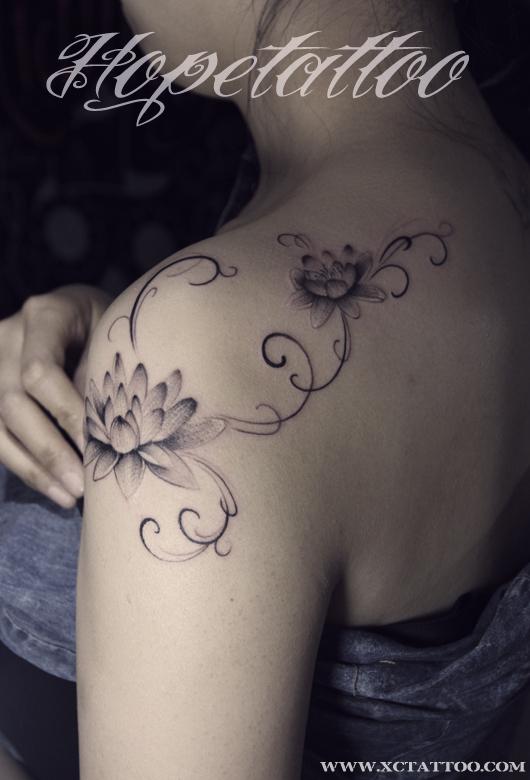 莲花纹身 山西最好纹身刺青