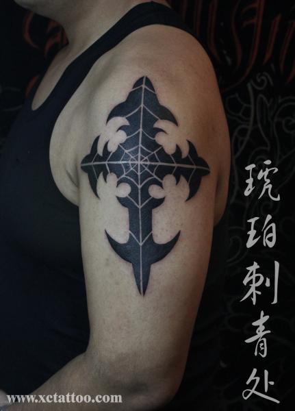 十字架纹身怎么画分享展示