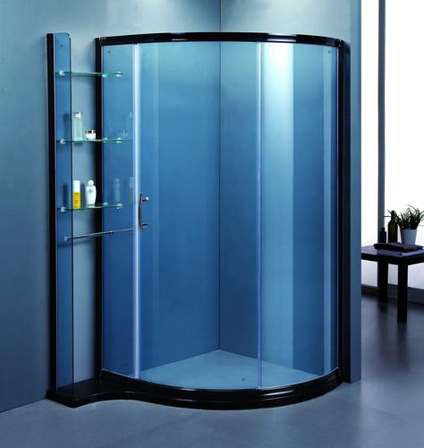 圆弧形淋浴房,浴缸上浴   屏等;按底盘的形状分方形,全圆形,扇形,钻石
