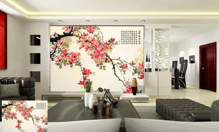 中式风格壁画06图片