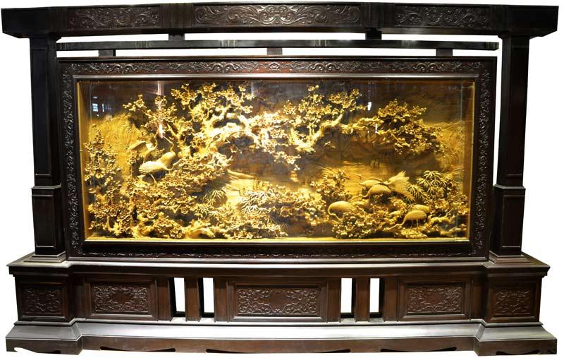 大型木雕摆件-大型木雕系列-山西太原叶山木雕装饰