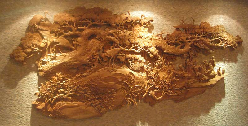 大型木雕系列-山西太原叶山木雕装饰经销部