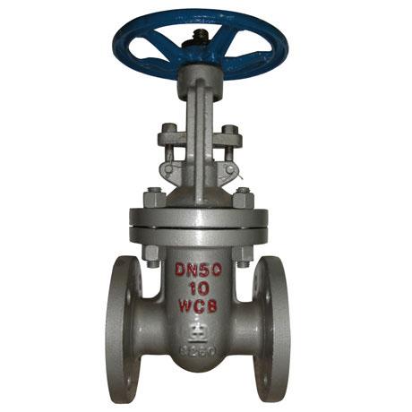 双闸板楔式闸阀在水和蒸气介质管