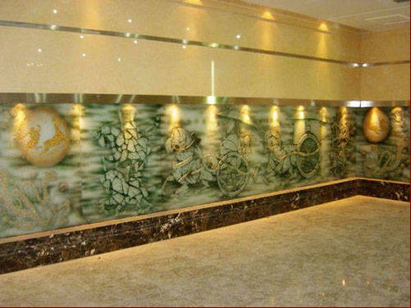 玻璃冰雕背景墙玄关