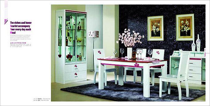 jh-822餐桌椅,d813小酒柜图片