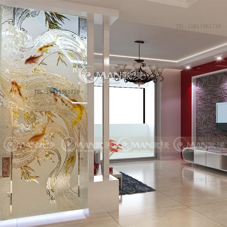 欧式玄关艺术玻璃