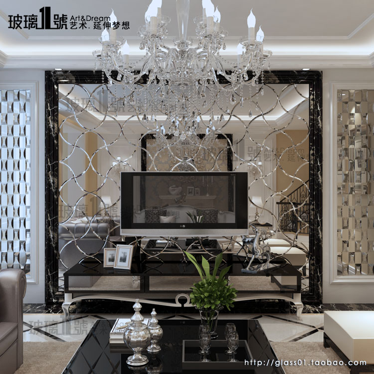 现代简约 艺术玻璃 拼镜 客厅餐厅 ktv玄关 影视墙柔情似水