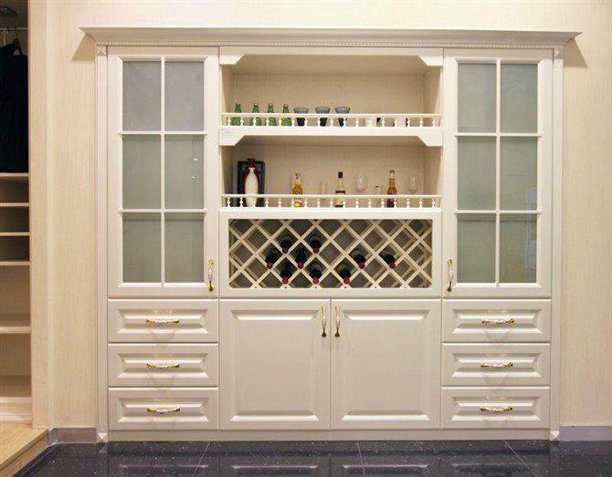 酒柜效果图大全2015款 木工做的酒柜效果图 酒柜图片 .