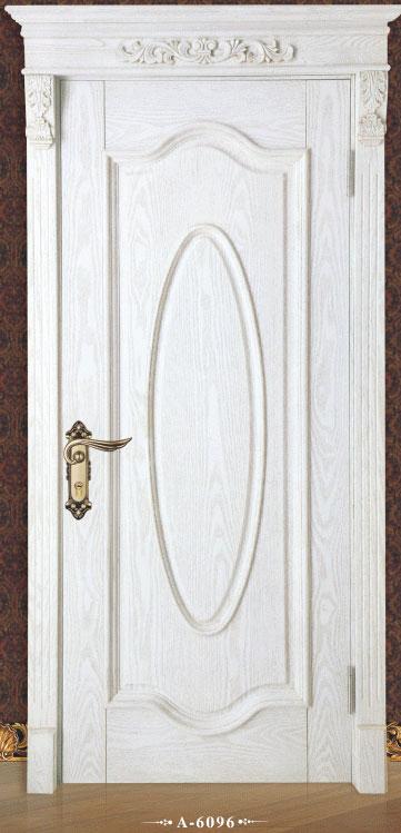 白色典雅外扣线套装门