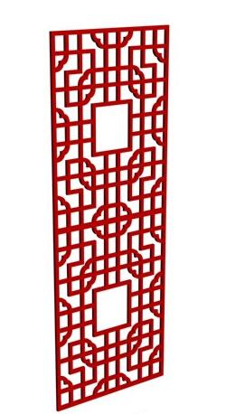 新中式风格的剪纸图案