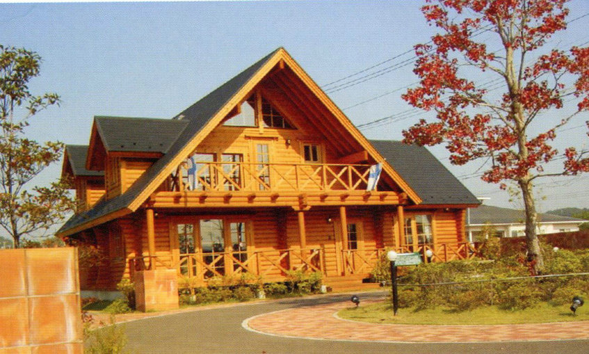 结构外墙的木基层上,可采用不同的装饰材料丰富了外立面;木屋的室内