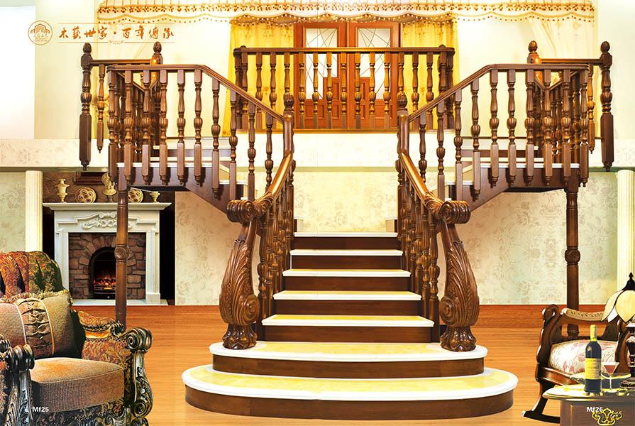 实木楼梯由实木材质制作,不似钢制,玻璃楼梯的冷感美,其散发出的是一