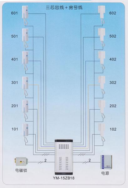 """ym-15系统""""n 3""""接线图 河南郑州电控门锁/门卡批发丨."""