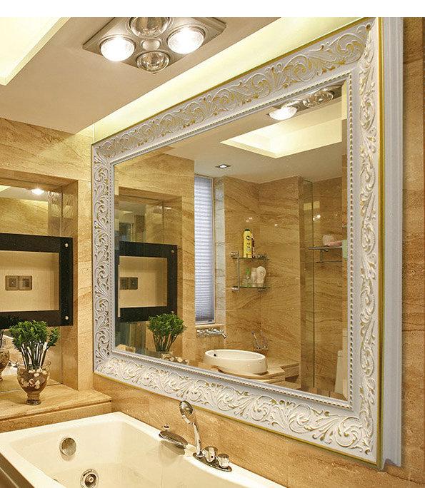以木材,塑料,玻璃等 镜子 镜子 材料做边框,以雕刻,立线,丝印