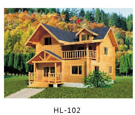 详细说明 防腐木木屋