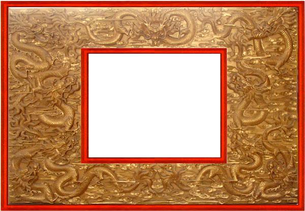 古代屏风边框素材