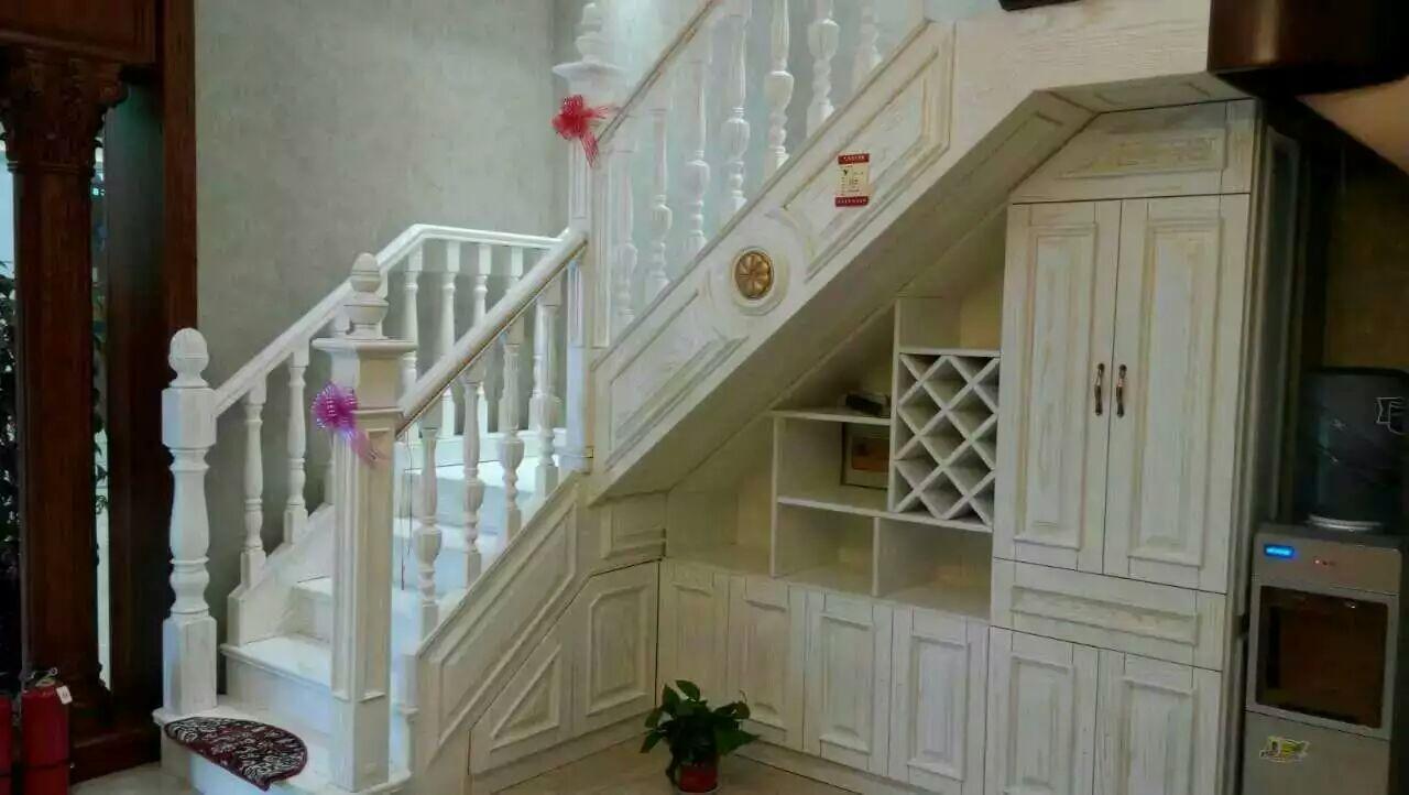 美成楼梯 实木整梯,实木护栏