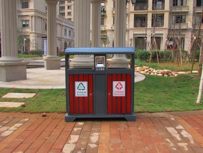 钢木垃圾桶|钢木分类垃圾桶