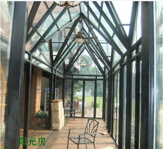 阳光房3 西安阳光房,无框阳台,钢架结构,彩钢瓦系列